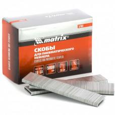 Скобы для пневматического степлера 18GA, 1,25х1 мм длина 28 мм ширина 5,7 мм, 5000 шт. MATRIX