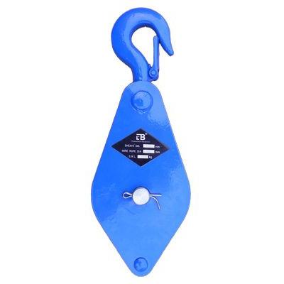 Блок однорольный (для каната и веревки) с крюком 1В-100Н г/п 0,5 т LBв Новокузнецке